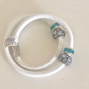 Brighton Double leather wrap charm Bracelet!